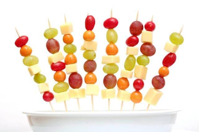 healthy fruit kabob snacks