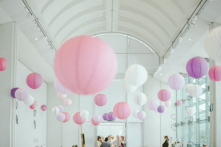 Beautiful pink party theme balloons