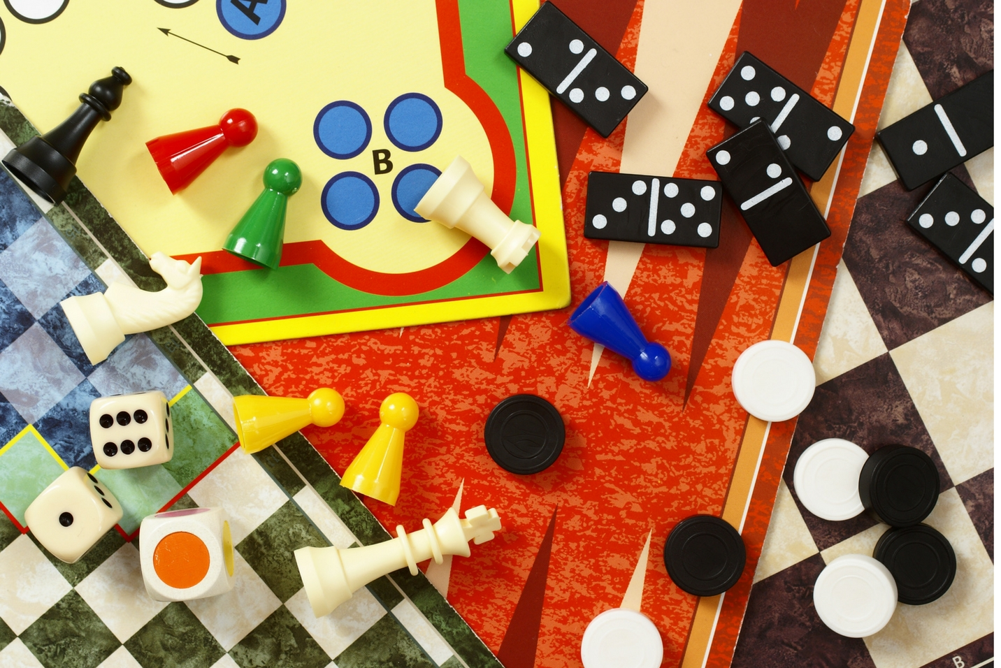 Planning to play dominos, checkers and dice at party