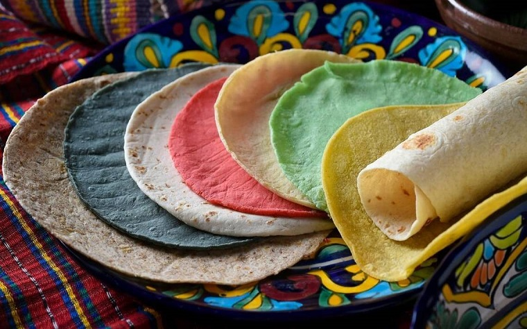 colored tortillas, cinco de mayo tortillas, party tortillas, colorful tortillas