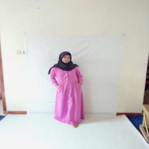 Gamis Erlin Dhea Embos Merah Muda/gamis murah /gamis muslim