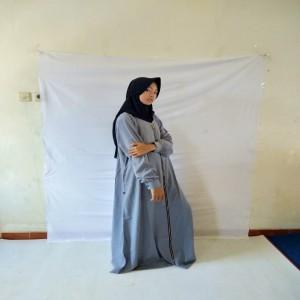 Gamis Erlin Muzna Abu-abu
