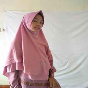 Jilbab Erlin Aisha Pink XL