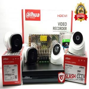 PAKET CCTV 4 KAMERA 2MP DAHUA