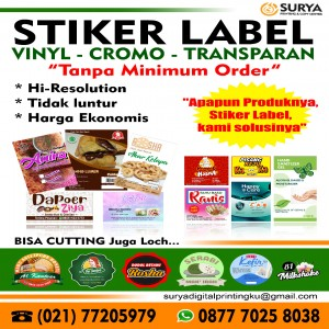sticker label