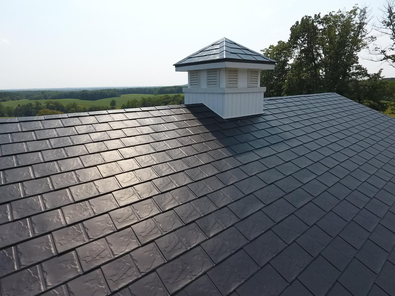aluminum metal roof shingles of slate roofing