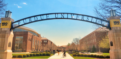 The Purdue Gateway to the Future Arch
