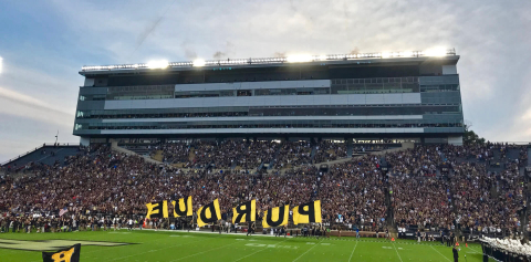The crowd at Ross-Ade Stadium during a football game