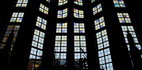 Stained glass windows in the Purdue Memorial Union