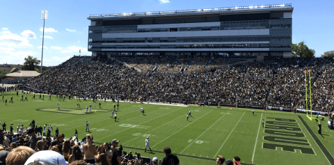 Ross-Ade stadium during a football game