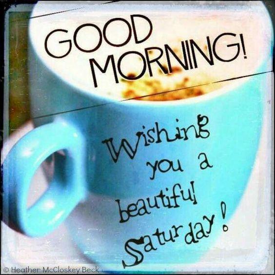 Good morning.. Wishing you a happy saturday #saturdayCoffee