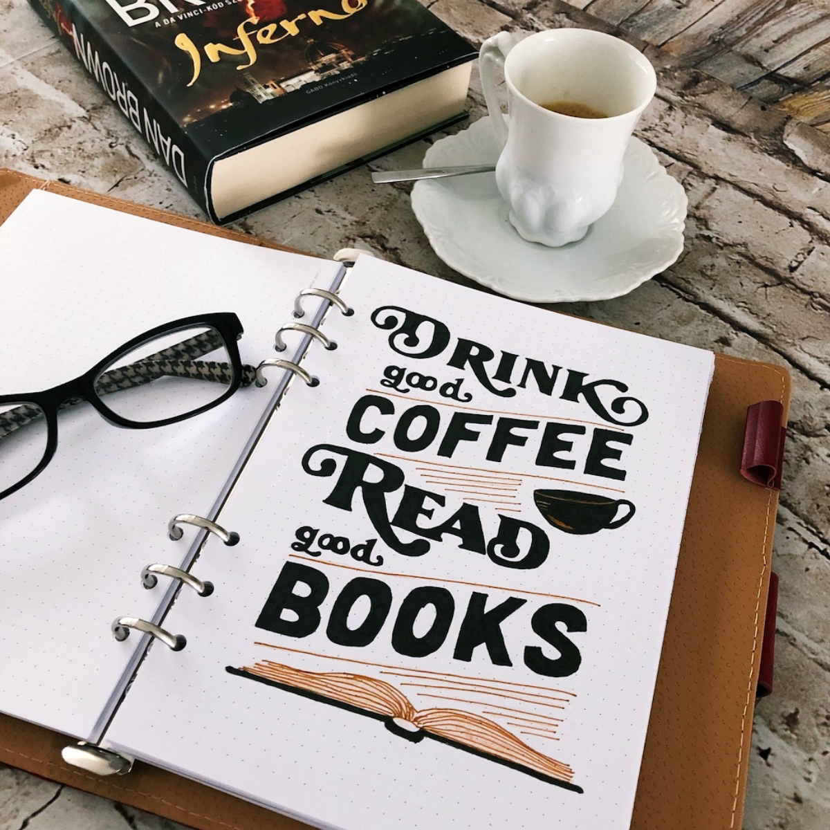 #bookQuote Read books. Drink Coffee.
