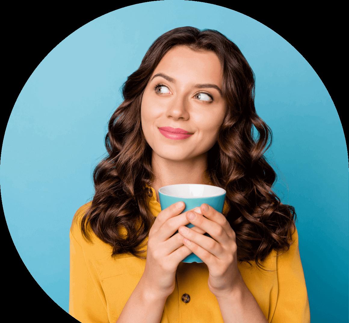 girl with a mug