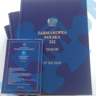 KOMPLET: FARMAKOPEA POLSKA XII 2020 (KSIĄŻKA + PENDRIVE Z WERSJĄ ELEKTRONICZNĄ)
