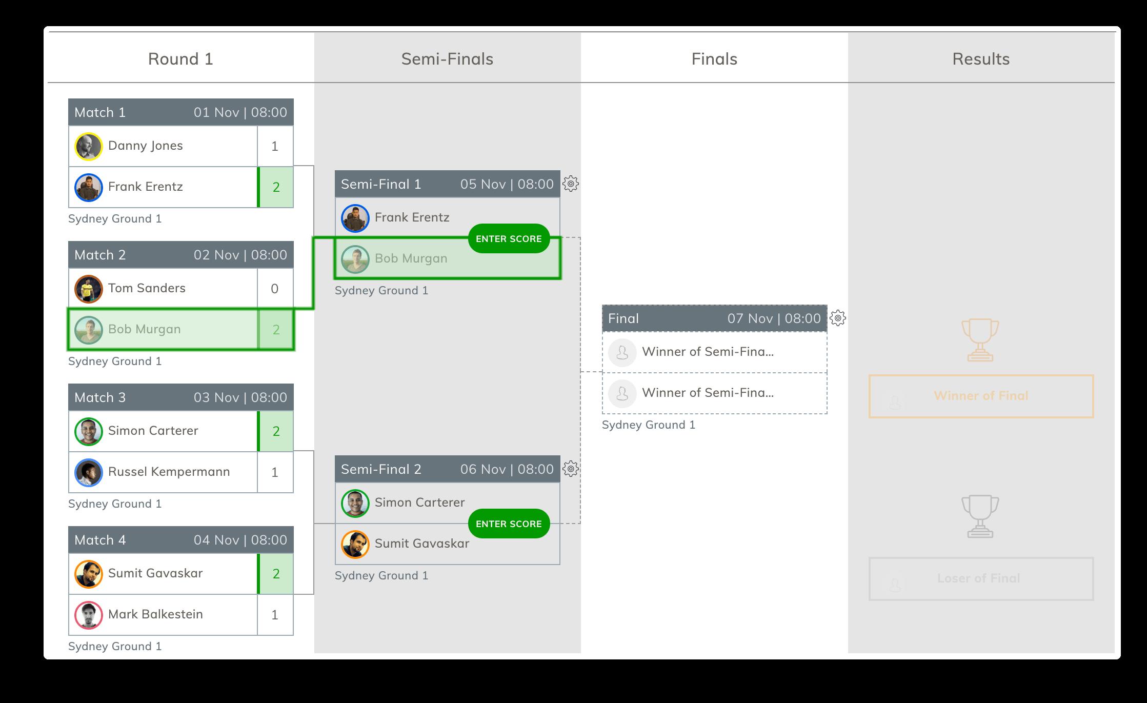 Free Tournament Scheduler
