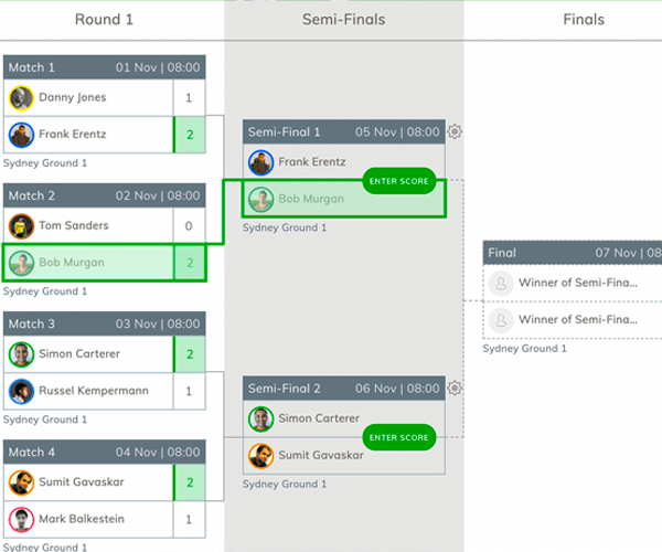 Online Cricket Tournament Brackets Generator And Online Cricket Fixture Generator