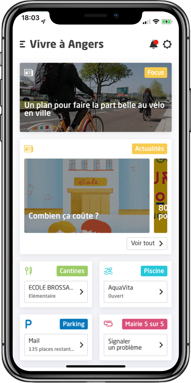 Visuel de l'application Vivre à Angers
