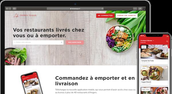 Visuel du site web et de l'application mobile Frères Toque