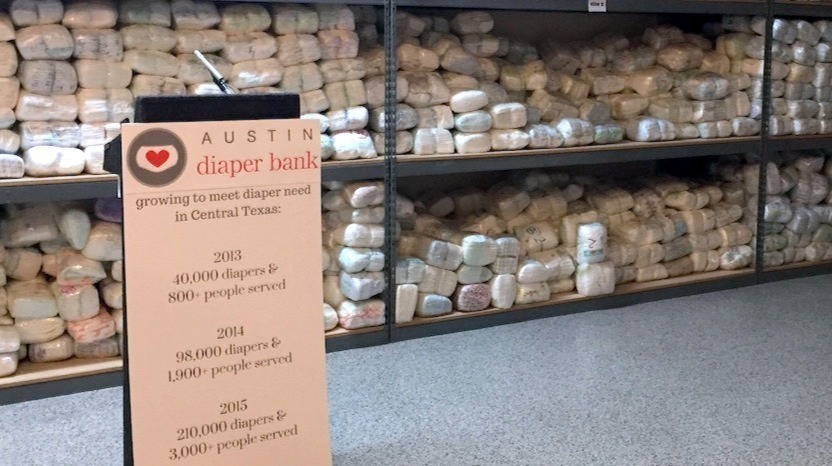Diapers needed for Austin Diaper Bank