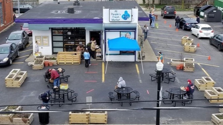Distribute Food at the All People's Fresh Market (7/11)