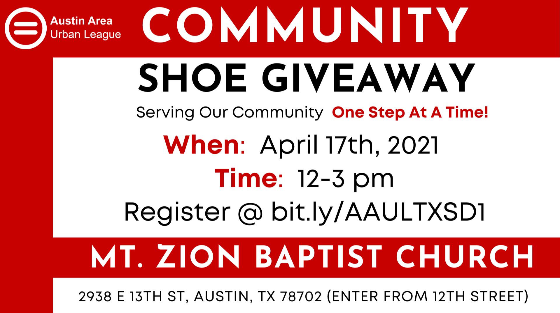 Shoe Drive Community Canvassing