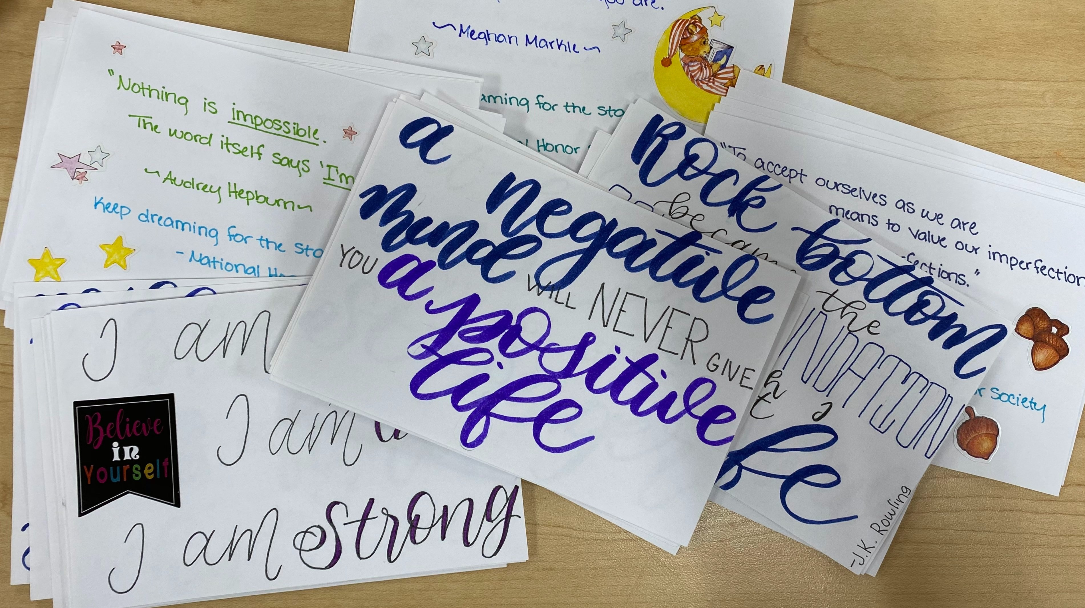 From HOME: Write appreciation notecards with Celebrating One!