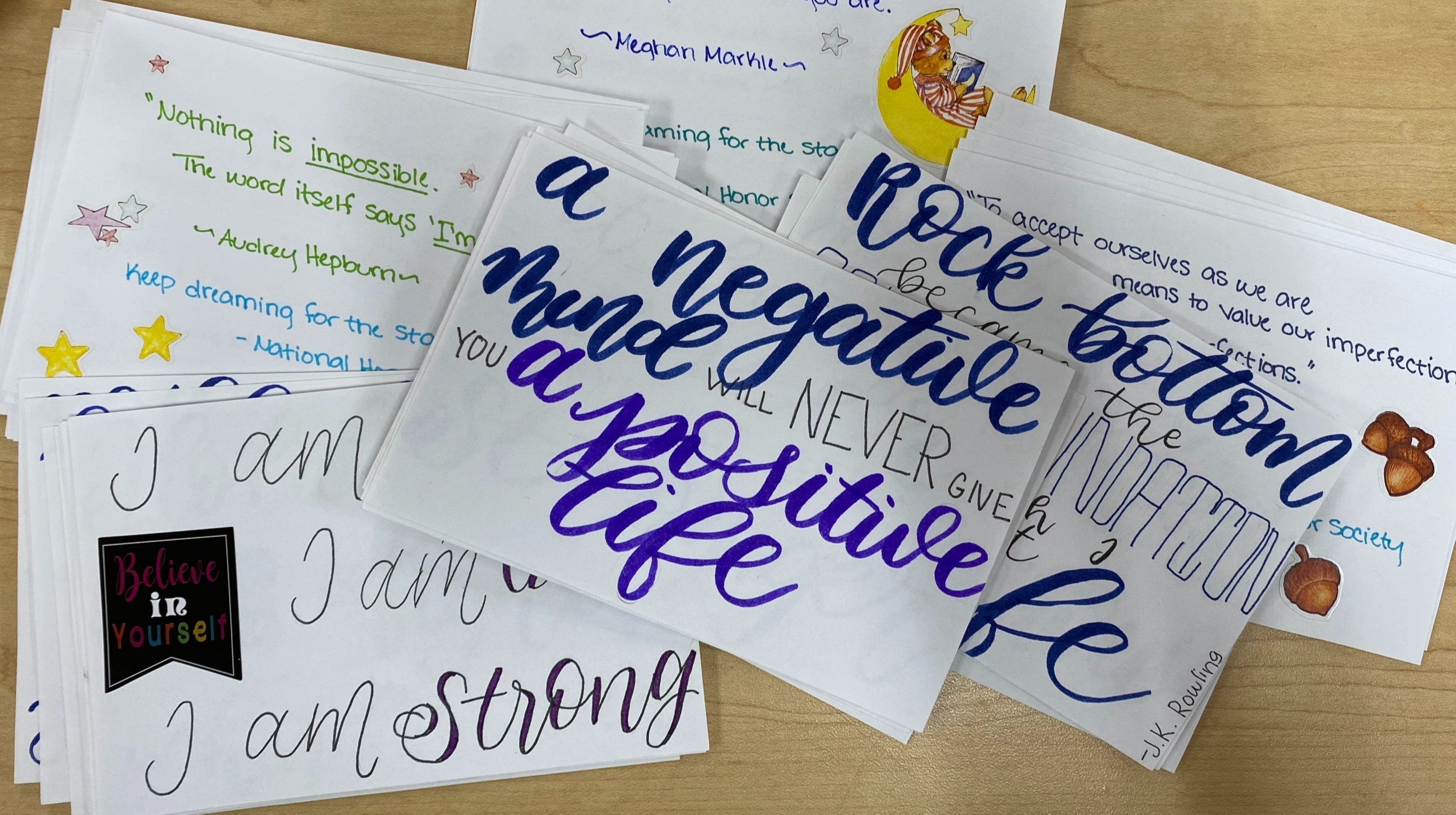 From HOME: Write appreciation notecards with Celebrating One! May 2021
