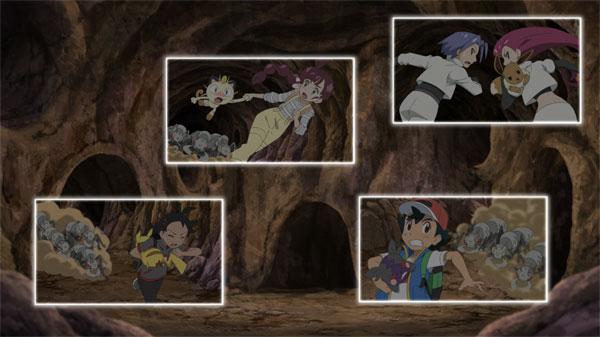 Capítulo 72 Pokémon Viajes - ¡¿Pánico revuelto en el laberinto subterráneo?!