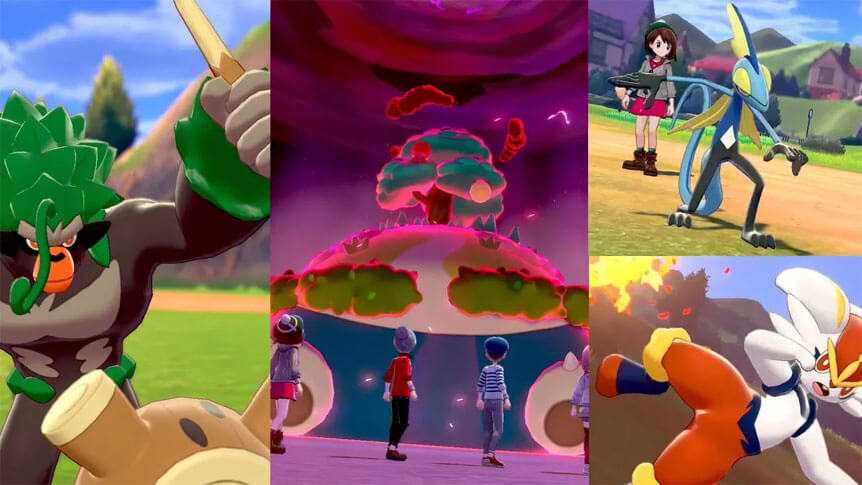 Se revelan oficialmente las evoluciones de los iniciales en Pokémon Espada y Escudo
