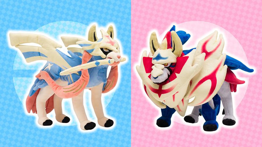 La tienda Centro Pokémon anuncia los peluches de Zacian y Zamazenta