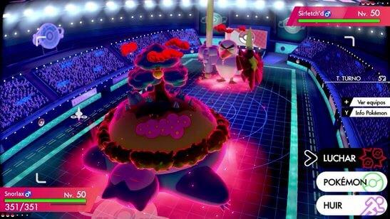 Evento de Snorlax Gigamax en el área silvestre de Pokémon Espada y Escudo
