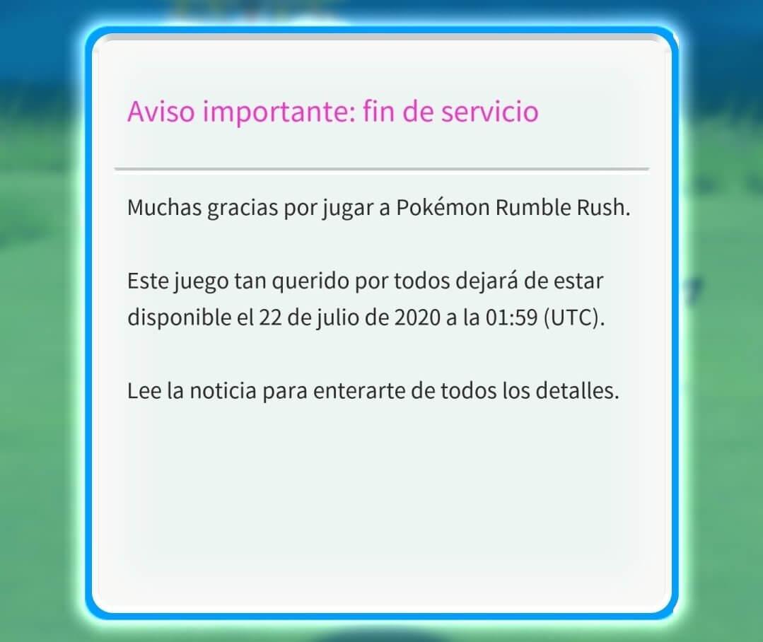 Pokémon Rumble Rush Cierra