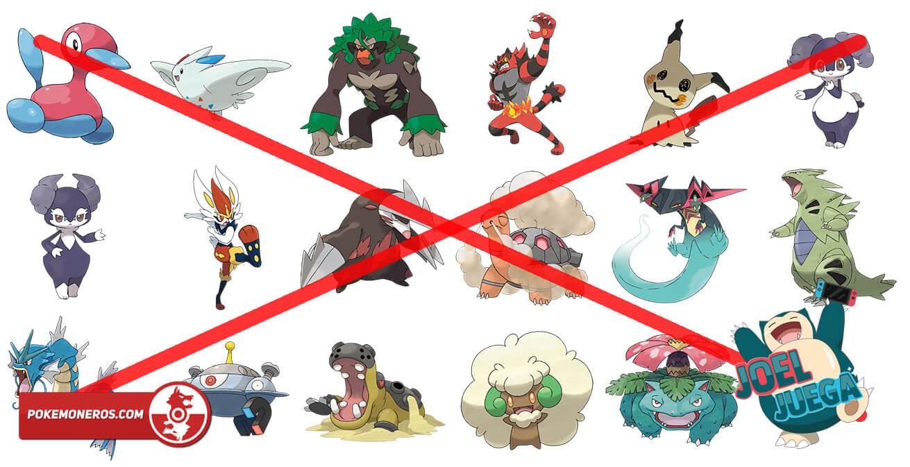 Conoce qué otros Pokémon usar tras el baneo de la Serie 6 del Competitivo de Espada y Escudo