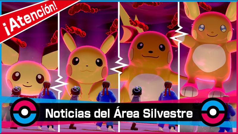 Pichu, Pikachu y Raichu en las Incursiones Dinamax de Pokémon Espada y Escudo