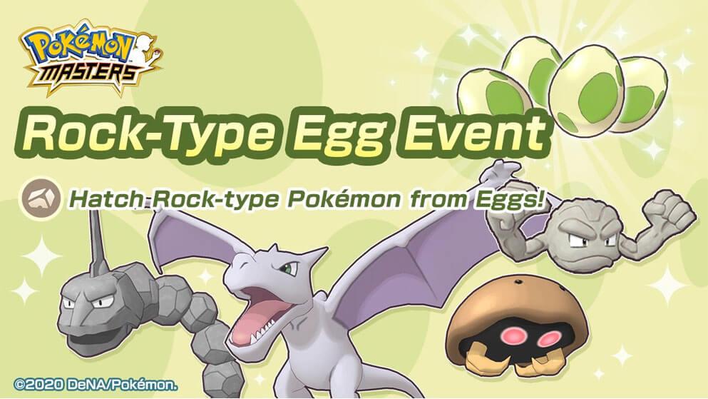 Nuevo Evento de Huevos Pokémon de Tipo Roca llega a Pokémon Masters