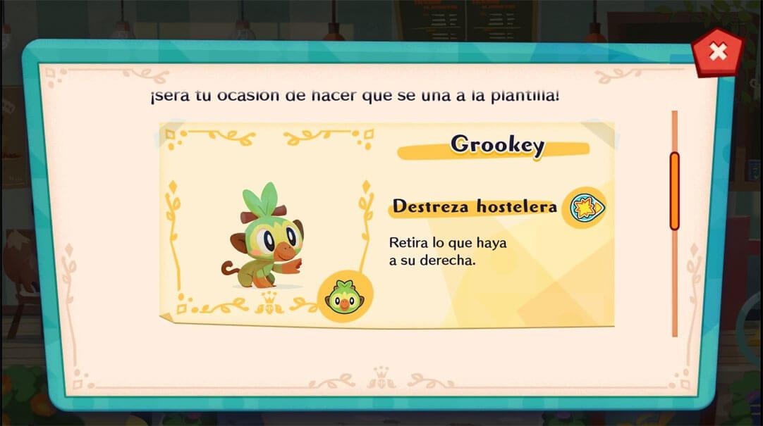 Grookey será el próximo cliente especial de Pokémon Café Mix