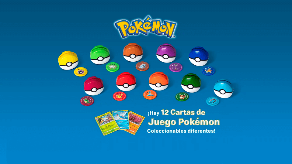 Pokémon vuelve a McDonald's Latinoamérica en forma de Tazos y Cartas