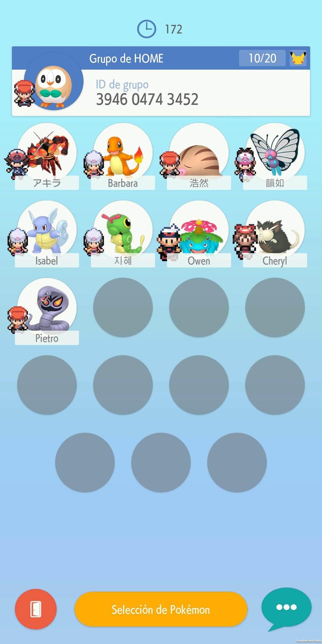 Intercambio grupos Pokemon Home