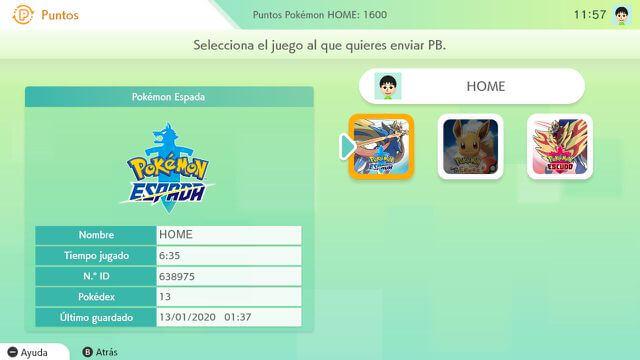 Puntos Pokemon Home