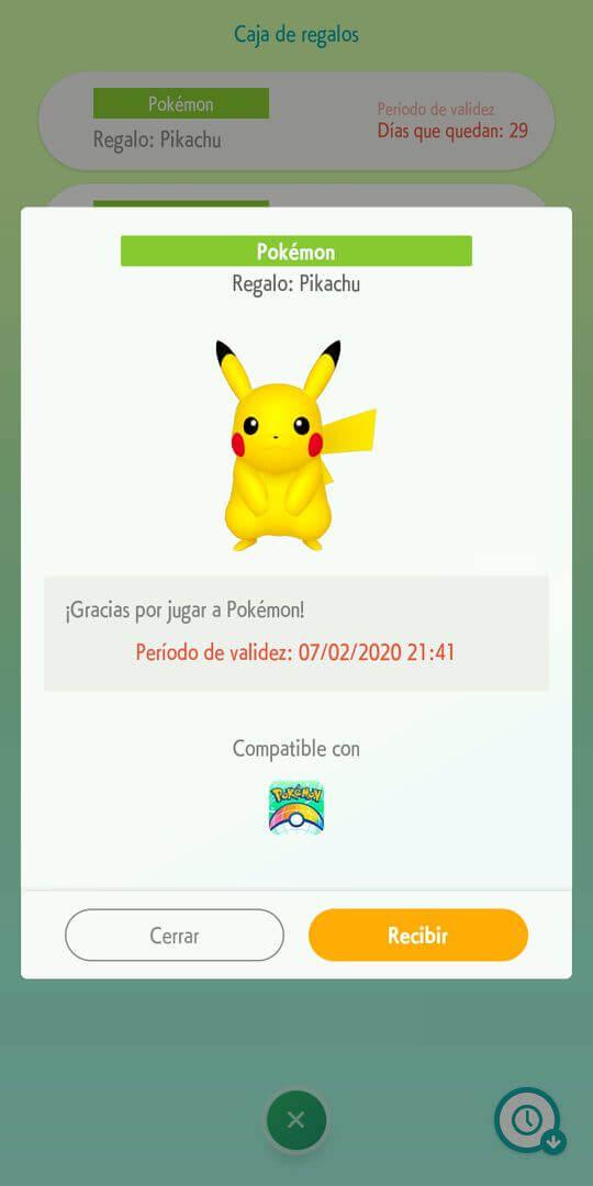 Regalo Misterioso Pokemon Home