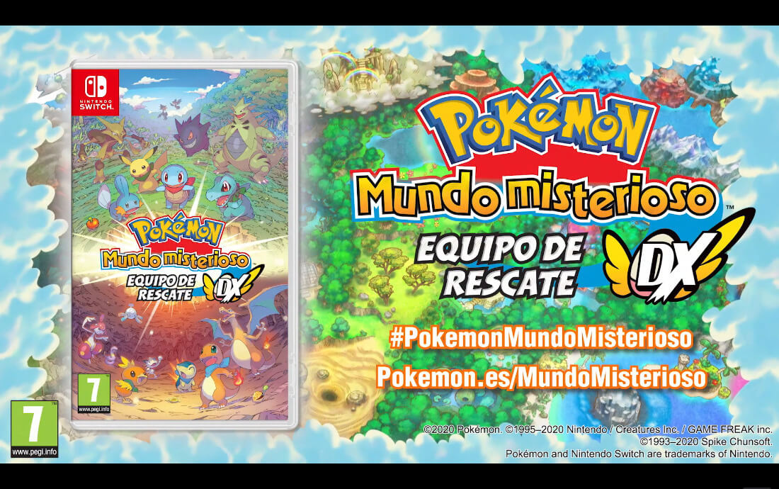 Pokémon Mundo Misterioso Equipo de Rescate DX llegará a Nintendo Switch
