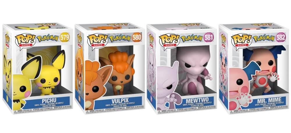Funko Pop anuncia nuevas figuras de Pichu, Vulpix, Mewtwo y Mr. Mime