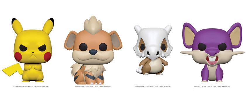Funko Pop anuncia nuevas figuras de Pikachu enojado, Growlithe, Cubone y Rattata
