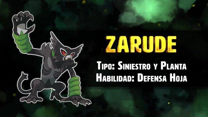 Zarude, nuevo Pokémon Singular de tipo Siniestro Planta