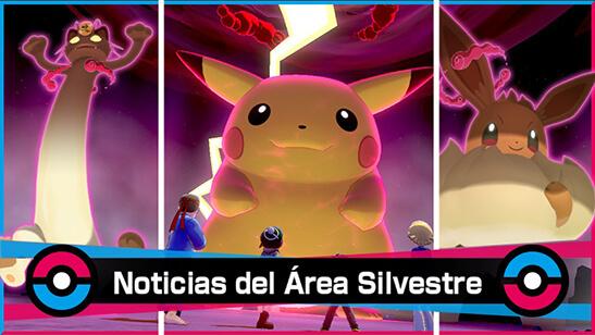 Pikachu Gigamax llega al Área Silvestre de Pokémon Espada y Escudo