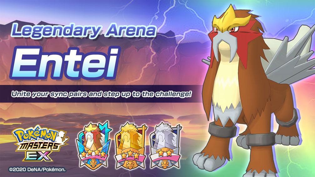Entei Regresa a Pokémon Masters EX y llegan nuevos trajes EX