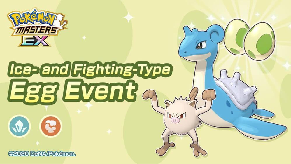 Nuevo Evento Huevo de tipo Lucha y Hielo llega a Pokémon Masters EX