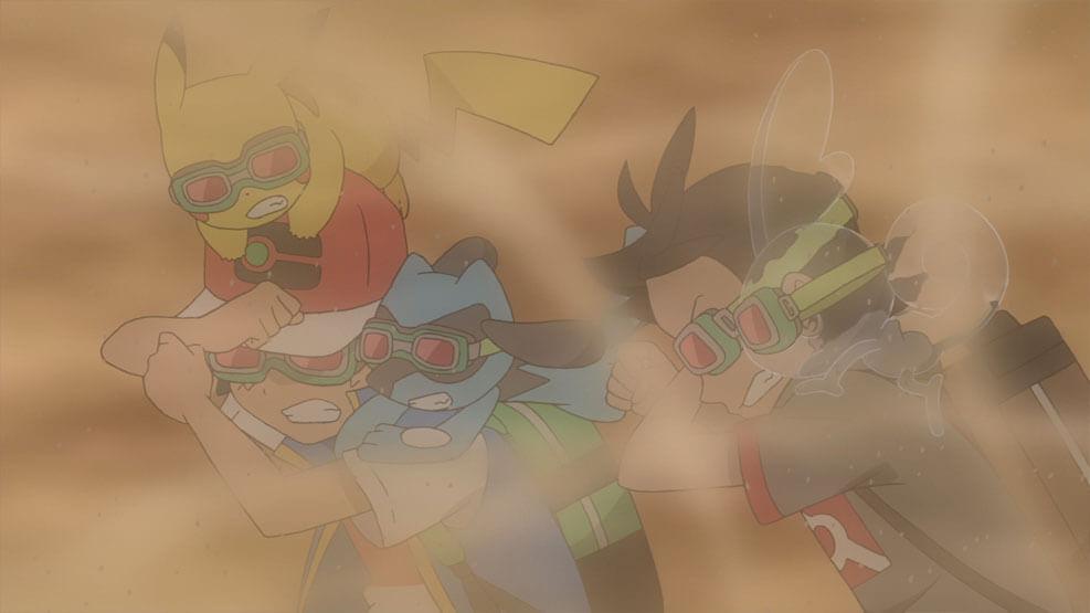 Capítulo 36 Pokémon Viajes - ¡Arrastrándose desde el bucle arena! (Resumen)