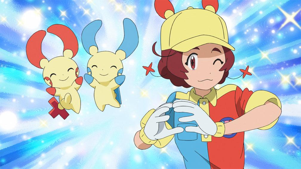 Capítulo 61 Anime Pokémon Viajes - ¡¡Los manitas Plusle y Minun!!