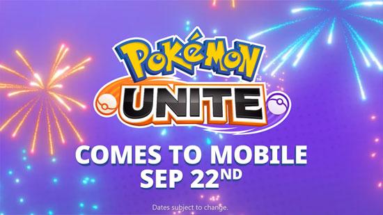 Pokémon UNITE llegará el 22 de Septiembre a Android e iOS